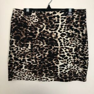 H&M Animal Print Women's Mini Skirt Size S